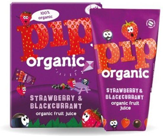 Pip Organic - Aardbei en Zwarte Bes 6x4 stuks 180 ml