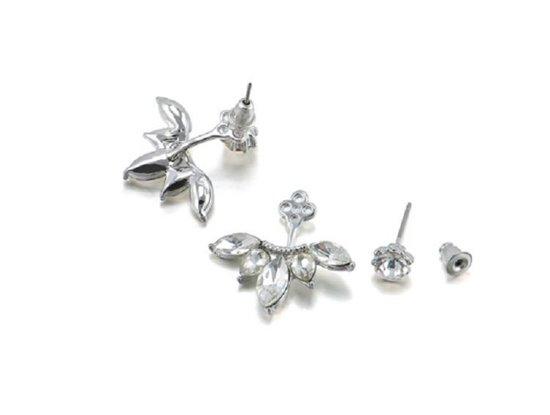 Sieraden - Oorbellen - Knopjes - Diamantje - Zilverkleurig