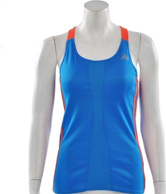 508f8bff07a adidas Response Cup Tank Womens - Sporttop - Dames - Maat 32 - Blauw;Oranje