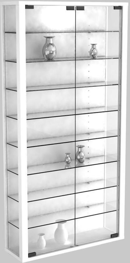 bol.com   Vitrinekast wandvitrine Vitrosa Maxi met LED verlichting (wit)