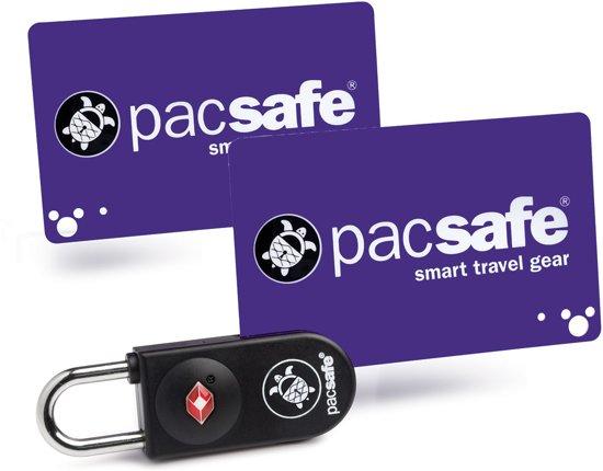 Pacsafe Prosafe 750-TSA kofferslot met gecodeerde kaart-Reisslot-Bagageslot-USA bagageslot-Zwart (Black)