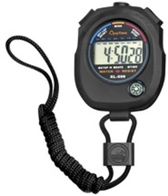 Stopwatch spatwaterdicht zwart
