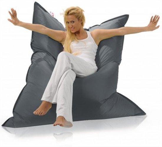 Sit Joy Basic Square Zitzak.Sit And Joy Basic Zitzak Vierkant 165x165 Cm Nylon Grijs