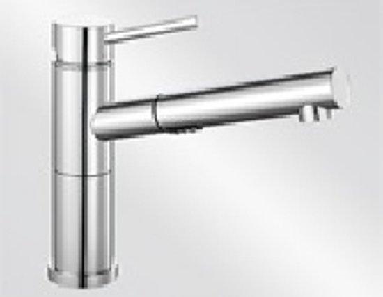 Keukenkranen Flexibele Uitloop : Bol.com blanco alta s compact vario chroom 518407 keukenkraan met
