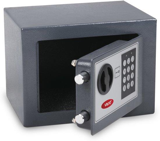 Varo MOTSA07EL Elektronische kluis - 17 x 23 x 17 cm - Geleverd met set  noodsleutels