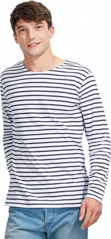 T Shirt Witblauw Xl Gestreept Heren AXqgTT