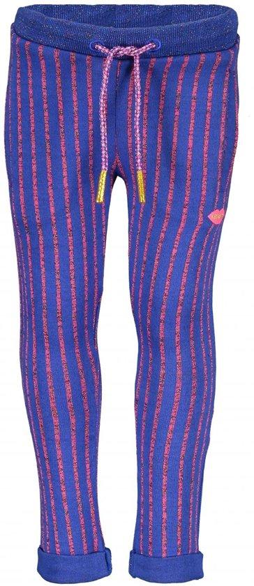 Kidz-art Meisjes lange broeken Kidz-art Girls fancy lurex stripe jacquard kn blauw 134/140