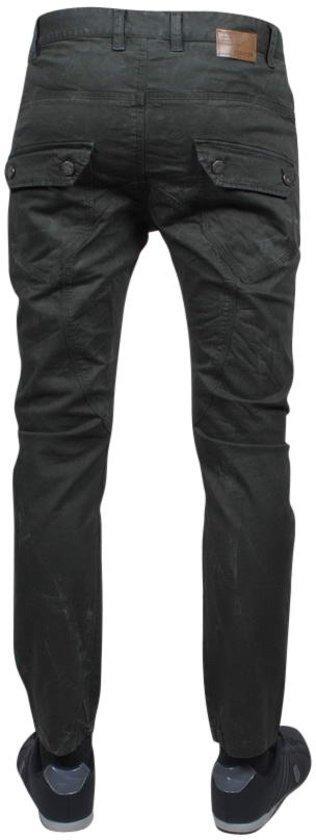 TMK Jeans Trendy Heren Broek met Zakken Lengte 32 Army