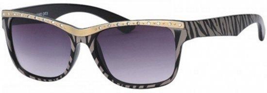 4030938ce9ef1d Dames zonnebril tijgerprint zwart