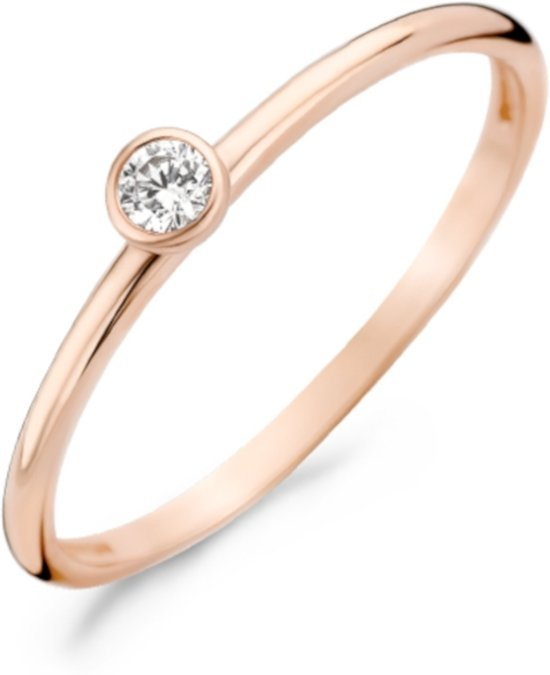 Blush 14 Karaat Roségouden Ring (Maat: 46) - Roségoud