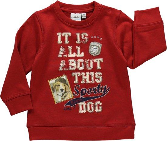 Blue seven babykleding - Rode sweater met tekst - Maat 68