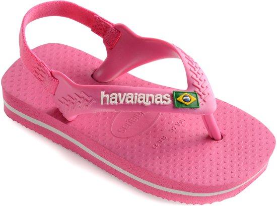 2b4b3a2ea8b Havaianas Baby Brasil Logo II Slippers - Maat 25/26 - Meisjes - roze