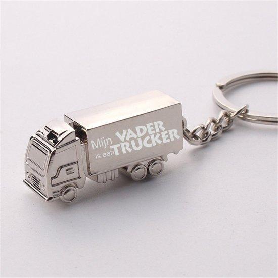 Vrachtwagen Sleutelhanger - Mijn Vader Is Een Trucker