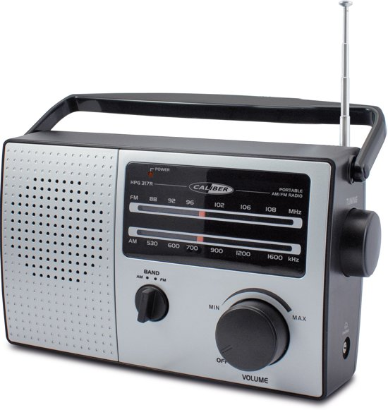 Caliber HPG317R - Draagbare FM AM radio - Grijs/Zwart