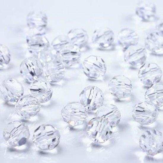 Crystallen kralen doorzichtig 10mm
