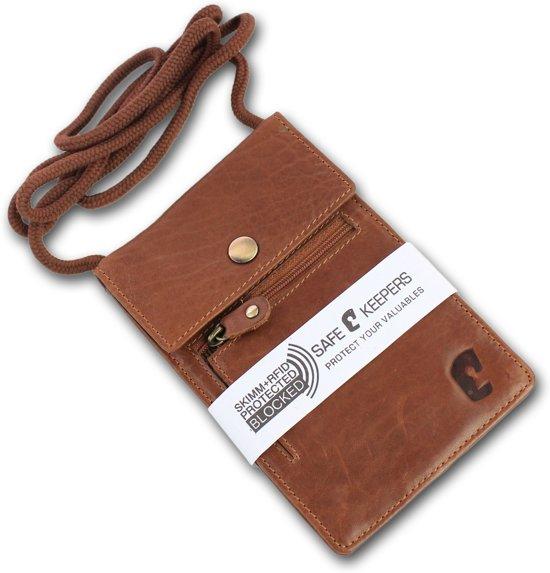 686049b8d39 ... Safekeepers Nektasje RFID Skim - Reisportemonnee - leer - Cognac -  safekeepers ...