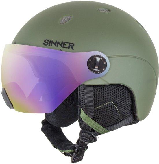 Sinner Titan Visor Unisex Skihelm - Matte Moss Green - S/56 cm
