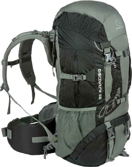 92892ee7996 bol.com | Highlander Discovery 65l backpack - Zwart/Grijs