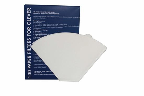 Paper Filter for Clever Dripper White 100 pcs, Small size