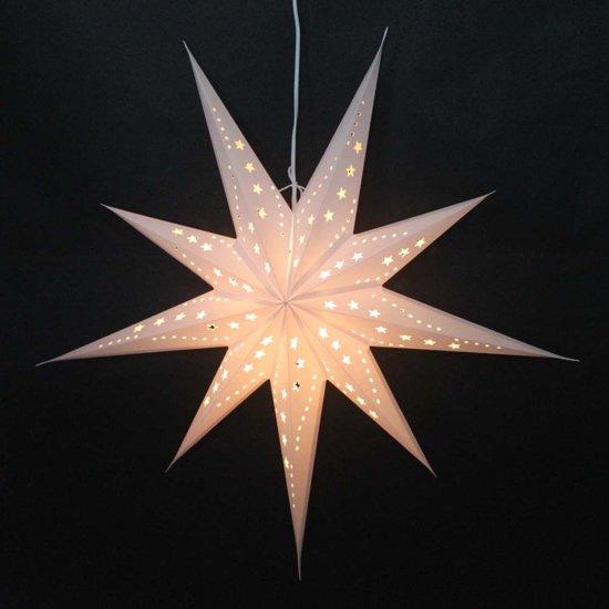 morethanhip grote papieren kerstster sumana wit incl verlichtingsset