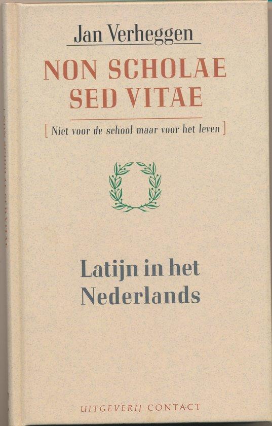 Boekomslag Non scholae sed vitae van Jan Verheggen