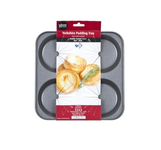 Wham Cook Essentials Quiche en Yorkshire Pudding Bakvorm - Non Stick - Voor 4 Stuks