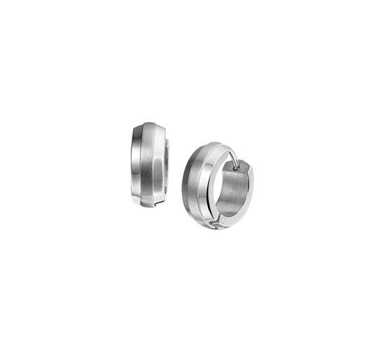 The Jewelry Collection Klapoorringen Bol Poli/Mat 13,5 X 5,0 Mm - Staal