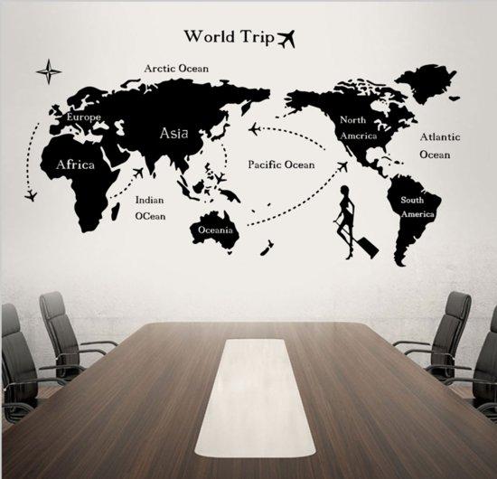 bol.com | Muursticker Wereldkaart | Slaapkamer | Woonkamer | Reizen ...