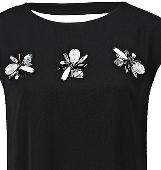 S. oliver zwarte jurk met sierstenen - Maat 38