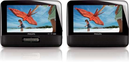 Philips PD7022 - Portable DVD-speler met 2 schermen - 7 inch