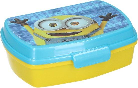 Minions Broodtrommel – 16x12x6cm – Geel Blauw | Lunchbox voor Kinderen | Lunch Trommel | Lunchboxen | Lunch Box