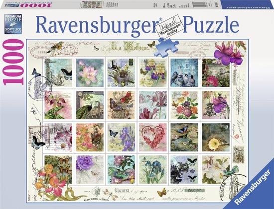 Ravensburger puzzel Postzegelverzameling - Legpuzzel - 1000 stukjes