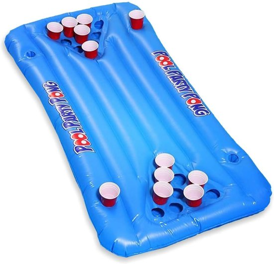 MikaMax Beer Pong Luchtbed 20 cup houders ± 150x67cm