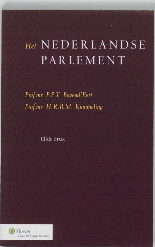 Boek cover Het Nederlandse parlement van P.P.T. BovendEert (Paperback)