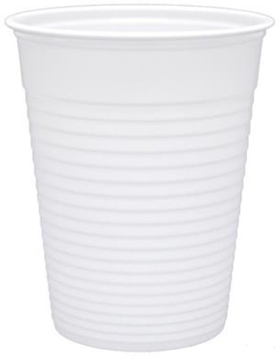 100 Drinkbekers Plastic 180ml