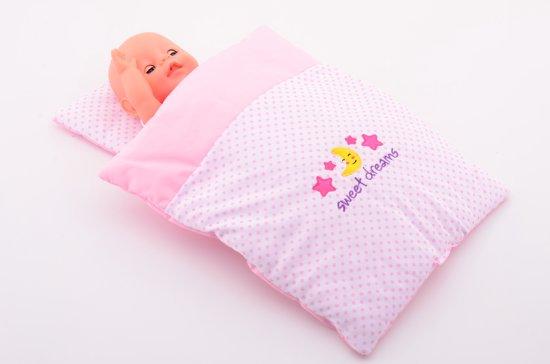 Baby Rose Poppendeken en kussenset