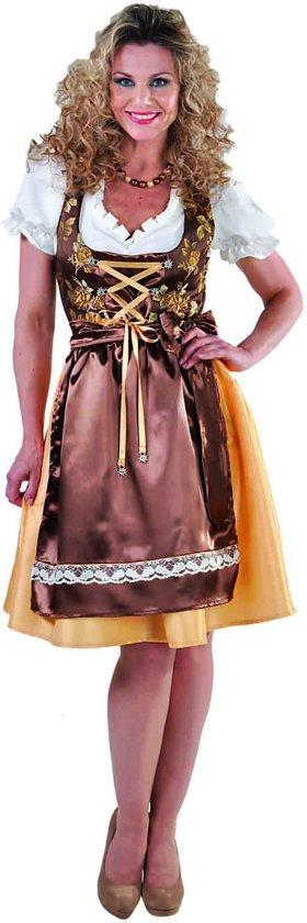 Luxe Dirndl met blouse en schort | Oktoberfestkleding dames maat L (42.44)