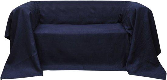 vidaXL Bankhoes microsuede marineblauw 270 x 350 cm