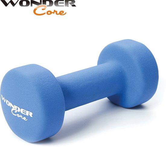 Wonder Core Neopreen Dumbbell Blauw - 3,0 kg - Fitness