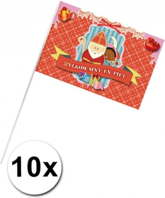 10 Welkom Sint en Piet zwaaivlaggetjes