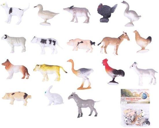 Plastic speelgoed boerderij dieren 12 stuks