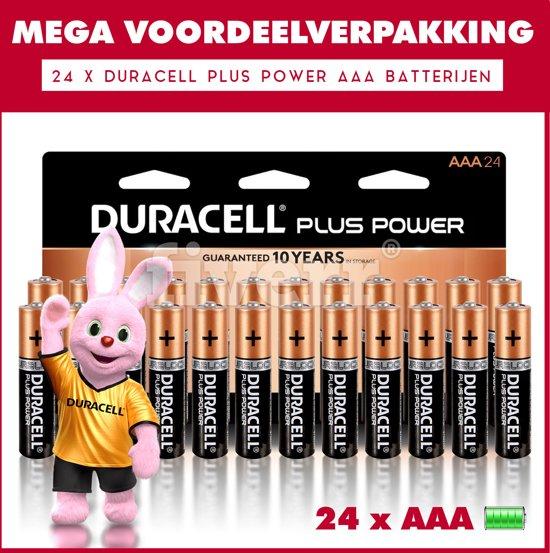 24 x Duracell AAA Plus Power - Voordeelverpakking - 24 x AAA batterijen