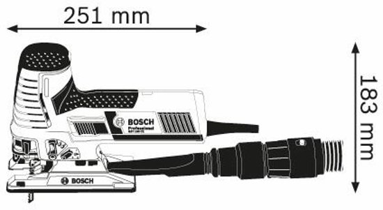 Bosch GST 160 CE Professional Decoupeerzaag - In multifunctionele L-BOXX - Incl. 3 zaagbladen