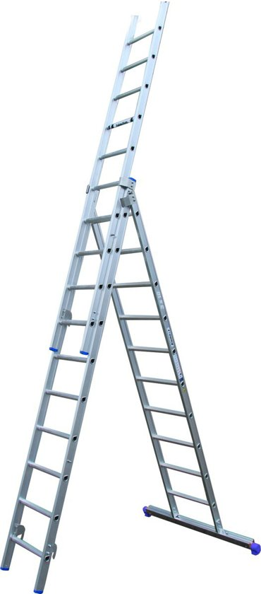 Alumexx - ladder 3-delig - 3x10 - Grijs