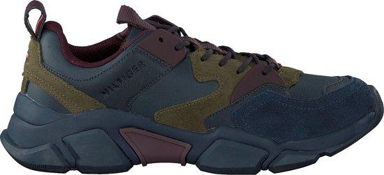 Tommy Hilfiger Heren Sneakers Chunky Sneaker - Blauw - Maat 45