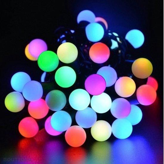 Gekleurde Feestverlichting / Party lights LED voor Binnen of Buiten - 50 Lampen - 15 m  Lang met Adapter | Feest verlichting | Party Lights voor in de Tuin of Binnen |  Snoerverlichting  | Buitenverlichting | Rood / Blauw / Groen