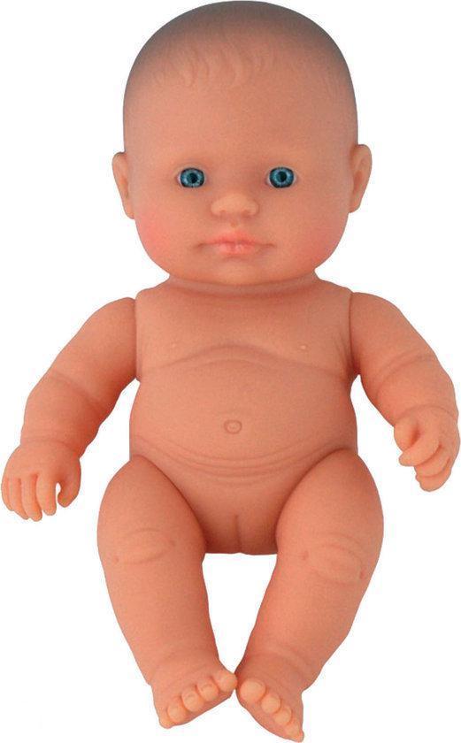 Miniland Babypop Europees Meisje - 21 cm blanke pop badpop