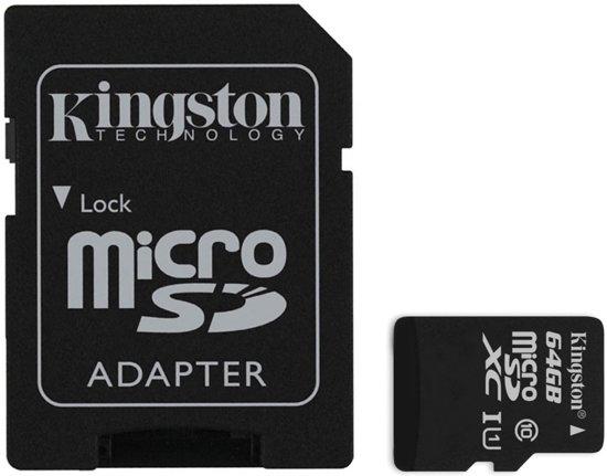 Kingston Technology microSDXC 64GB 64GB MicroSDXC Flash Klasse 10 flashgeheugen