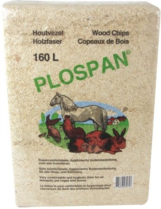 Plospan Classic Houtvezel - Bodembedekking - 160 ltr
