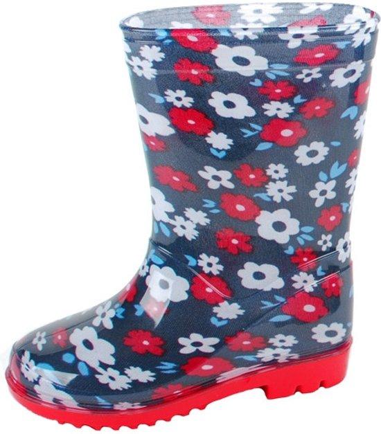 bol.com   Gevavi Boots Flower meisjeslaars pvc blauw 21 36c4b068c0d9